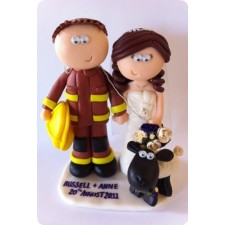 Fireman wedding cake topper