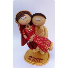 Indian personalised wedding cake toppers