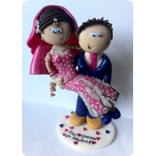 Asian wedding cake topper personalised