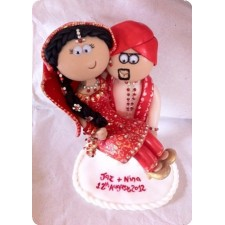 Indian handmade wedding cake toppers