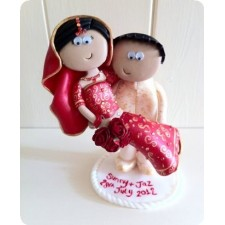 Asian personalised wedding cake toppers