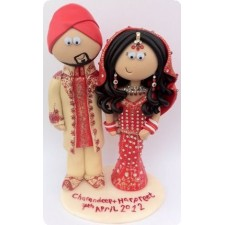 Indian personalised handmade wedding cake toppers