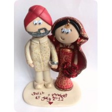 Asian wedding cake toppers handmade and personalised