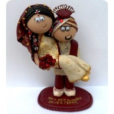 Indian personalised wedding cake topper