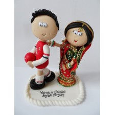 Arsenal wedding cake topper