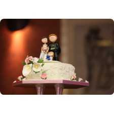 Batman personalised wedding cake topper