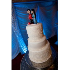 Pakistani Bride & Groom wedding cake topper