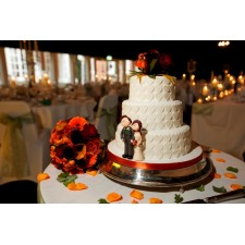 Bride & Groom cake toppers in action!