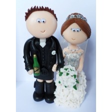 Scottish Bride & Groom cake topper