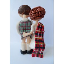 Scottish cheeky cake topper