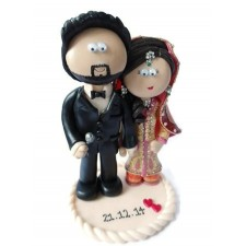 Pakistani wedding cake topper