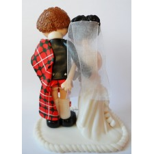 Cheeky Scottish wedding cake topper, kilt lift!