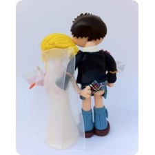 Cheeky Scottish wedding cake topper