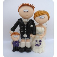 Scottish wedding topper, family