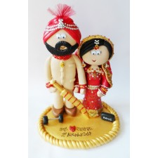 Sikh wedding cake topper custom made