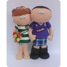 Celtic and Rangers football wedding topper