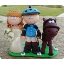 Horse riding wedding toppers