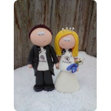 Sports theme wedding toppers