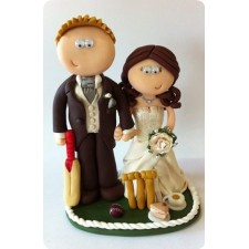 Cricket wedding cake topper