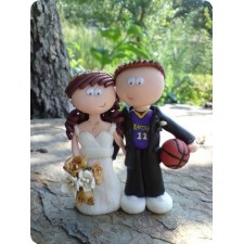Basketball wedding cake topper