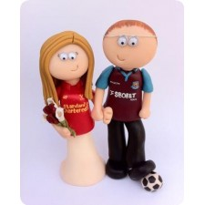 Football wedding toppers