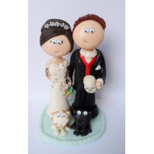 Tattoo Bride & Groom cat topper