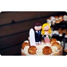 Surfer & Baker wedding cake topper