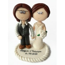 LGBT Lesbain gay wedding cake toppers