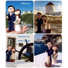 Bride & Groom cake topper on honeymoon!